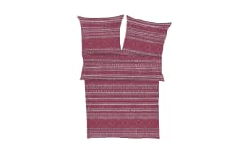 Bettwäsche Zeitgeist in beere/rosa gemustert, 155 x 220 cm