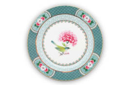 Plate Blushing Birds in blau, 17 cm