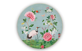 Plate Blushing Birds in blau, 32 cm