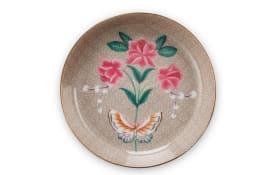 Tea Tip Blushing Birds in khaki, 9 cm