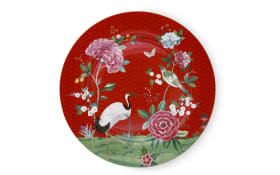 Plate Blushing Birds in rot, 32 cm