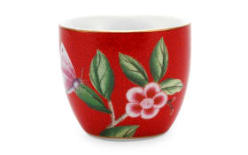 Egg Cup Blushing Birds in rot, 4,5 cm