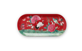 Cake Tray Rectangular Blushing Birds in rot, 15,5 x 33,3 cm
