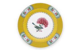 Plate Blushing Birds in gelb, 17 cm