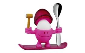 Eierbecher mit Löffel in pink