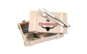 WMF Steakbesteck in Holzkiste, 12-teilig