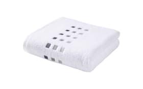 Handtuch Quattri in weiß, 50 x 100 cm