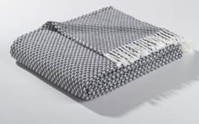 Plaid in schwarz/anthrazit, 150 x 200 cm