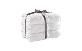Handtuch Casa Nova 3tlg. in weiß, 50 x 100 cm