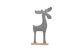 Dekofigur Elch in grau, 22 x 42 x 5.5 cm