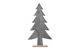 Deko-Tannenbaum in grau, 33.5 x 58.5 x 5 cm