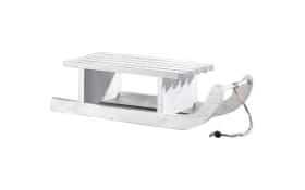 Deko-Schlitten in weiß, 50 x 18 x 14 cm