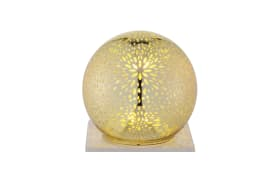 Kugel Set LED in gold/transparent