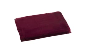 Platzmatte aus Kunstfell in rot, 30 x 40 cm