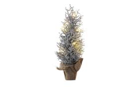 Weihnachtsbaum in silber mit 7 LEDs, 46 cm