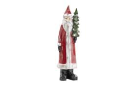 Deko-Weihnachtsmann mit Tannenbaum, 16 x 52 x 13 cm
