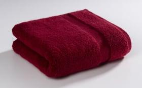 Handtuch in bordo, 50 x 100 cm