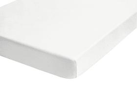 Jersey-Spannbetttuch Castell in weiß, 90 x 190 cm