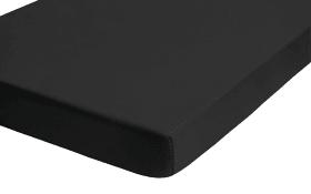 Jersey-Spannbetttuch Castell in schwarz, 90 x 190 cm