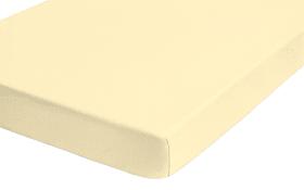 Spannbetttuch Castell in gelb, 180 x 200 x 22 cm