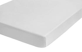 Spannbetttuch Biber in weiß, 90 x 200 x 22 cm