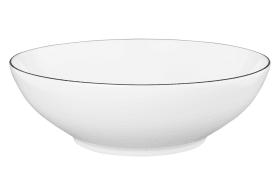 Schale Lido Black Line in weiß, 20 cm
