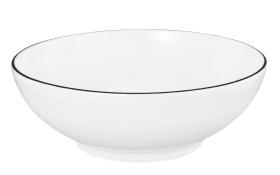 Dessertschale Lido Black Line in weiß, 15 cm