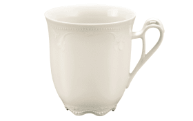 Becher mit Henkel Rubin Cream in creme, 0,33 l