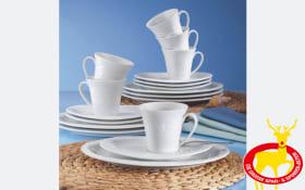 Kaffeeservice Allegro in weiß, 18-teilig