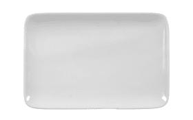 Butterplatte Rondo Liane in weiß, 21 cm
