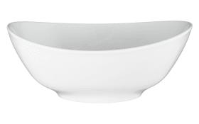 Schüssel Modern Life in weiß/oval, 21 cm