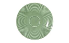 Kombi-Untertasse Beat in salbeigrün, 16,5 cm