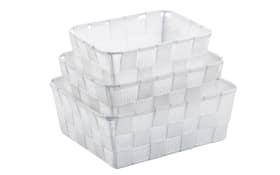 Korb-Set Alvaro in weiß, 3-teilig
