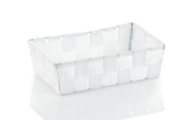 Aufbewahrungskorb Alvaro in weiß, 23 x 6 x 15 cm