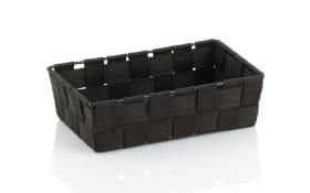 Aufbewahrungskorb Alvaro in schwarz, 23 x 6 x 15 cm