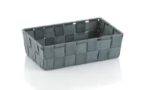 Aufbewahrungskorb Alvaro in grau, 23 x 6 x 15 cm