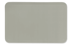 Tischset Uni in grau, 28.5 x 43.5 cm