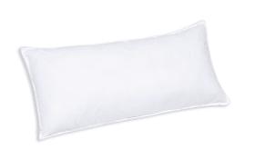 Faserbällchen-Kissen Kansas in weiß, 40 x 80 cm