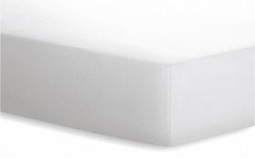 Spannbetttuch Jersey in weiß, 90 x 190 cm
