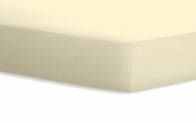 Spannbetttuch Jersey in creme, 90 x 190 x 20 cm