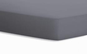 Spannbetttuch Jersey in graphit, 90 x 190 x 20 cm