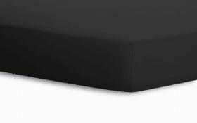 Spannbetttuch in schwarz, 100 x 200 cm
