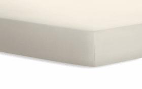 Spannbetttuch Jersey in leinen, 90 x 190 x 20 cm