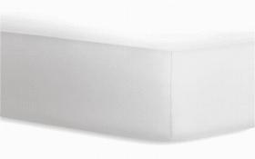 Boxspringspannbetttuch Jersey-Elasthan in weiß, 120 x 200 cm