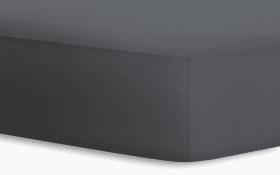 Boxspringspannbetttuch Jersey-Elasthan in titan, 120 x 200 x 40 cm
