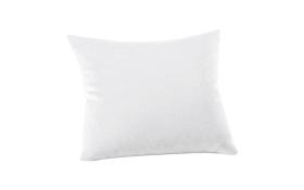 Kissenbezug Mako Jersey in weiß, 40 x 40 cm