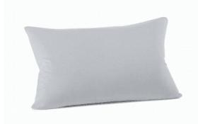 Kissenbezug Mako Jersey in silber, 40 x 60 cm