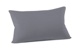 Kissenbezug Mako Jersey in graphit, 40 x 60 cm