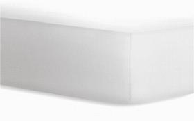 Boxspringspannbetttuch in weiß, 180 x 200 x 40 cm