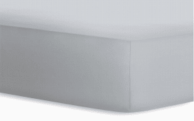 Boxspringspannbetttuch in platin, 180 x 200 x 40 cm